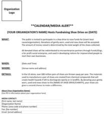 Calendar Media Alert (Word Document)